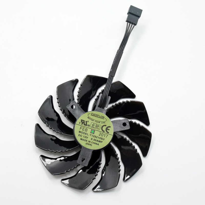 T129215SU 88mm para GIGABYTE GTX1050 Ti 1060 1070 Ti 1080 RX 470, 480, 570, 580 ventilador PLD09210S12HH Fan G1 ventilador de enfriamiento de la tarjeta gráfica