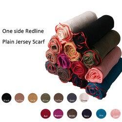 180*80 см одна сторона Redline обычный Джерси-шарф мягкий материал длинные шали обертывания сплошной цвет трендовый женский хиджаб шарф