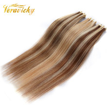 Human-Hair-Extensions Skin-Weft Real-Hair Veravicky Adhesive Tape-In Remy Natural Invisible