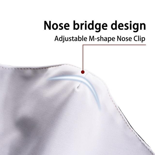 Маска дышащая многоразовая моющаяся с фильтром и регулируемыми петлями для ушей 6