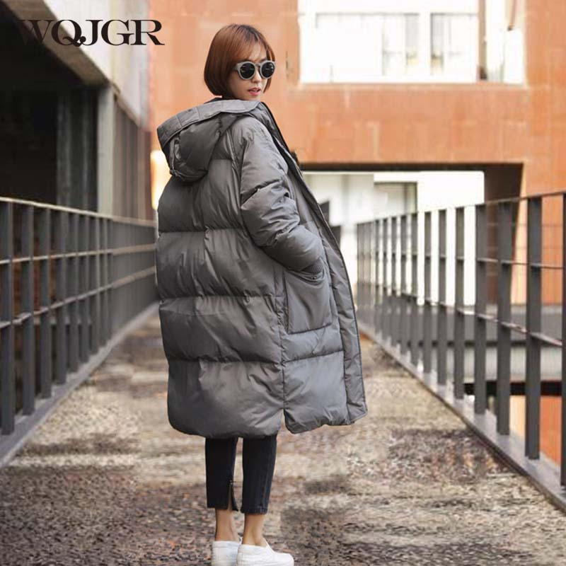 WQJGR Fashionable Winter Jacket Women Hooded Warm Parkas Coat Hight Quality Female New Winter Collection