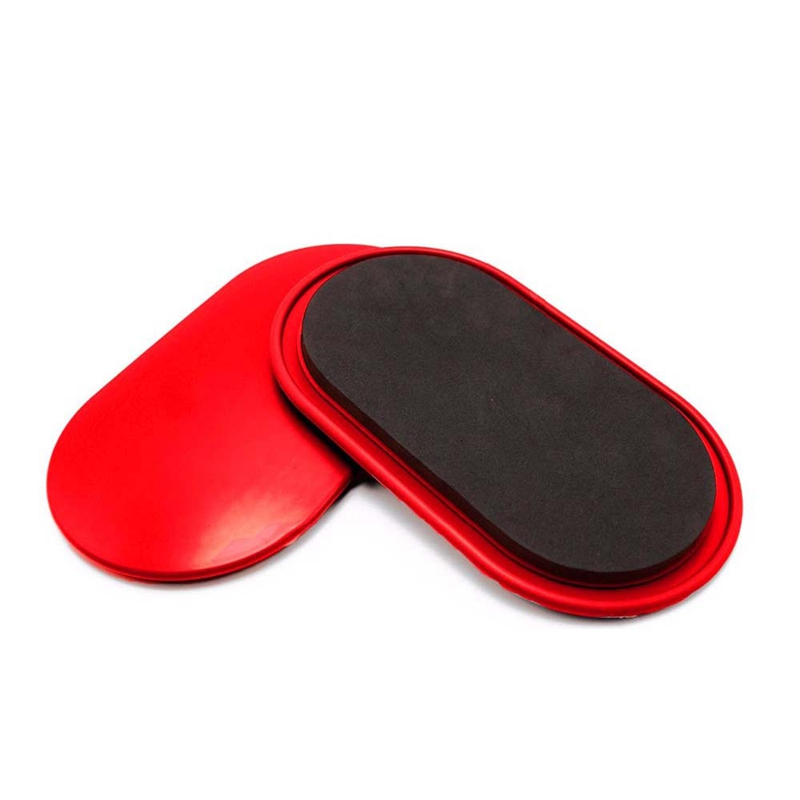 1 Pair Fitness Gliding Discs Core Slider With Covers Whole-Body Workout Coordination Training Home Gym Exercise Equipment Red
