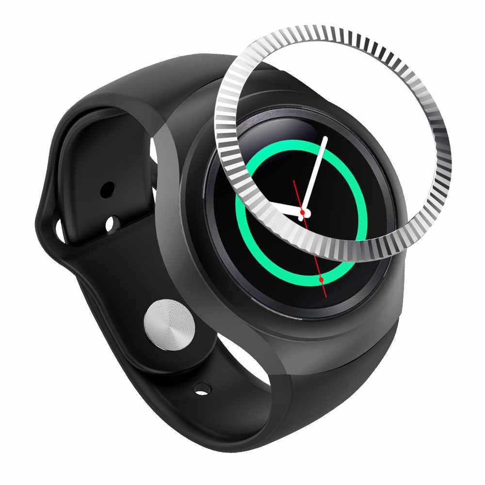 עבור Samsung הילוך S2 SM-R720 חדש סגנון נירוסטה Bezel טבעת מתכת מקרה כיסוי חכם שעון החלפת אביזרי רצועת להקה