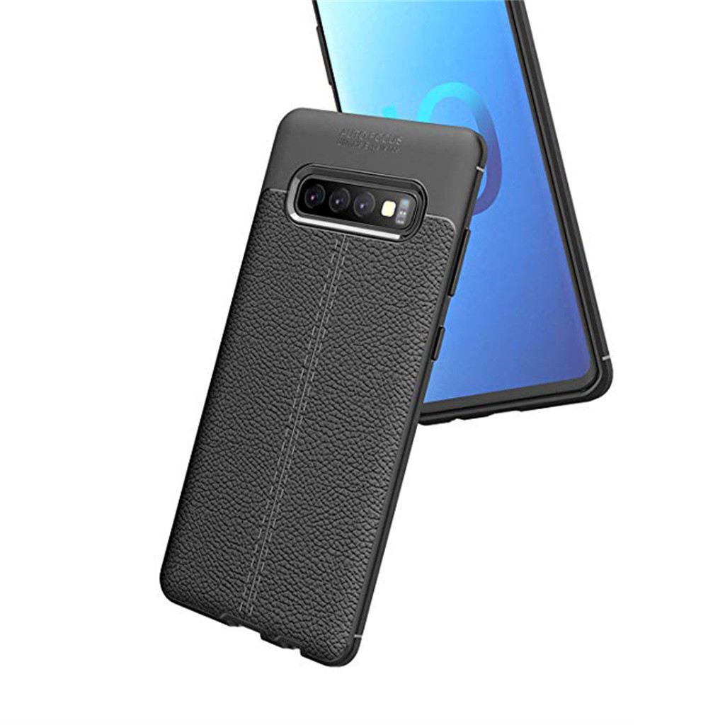 Fashion Frosted Leather Phone Case For Samsung Galaxy S10 6.1Inch Soft Hybrid TPU Leather Case Cover,Hot Phone Case