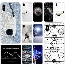 Mewah Lembut Silicone Ponsel Case Hoki Es Arena untuk Apple Iphone 11 Pro XS Max X XR 6 6S 7 8 PLUS 5 5S SE Fashion Cover(China)