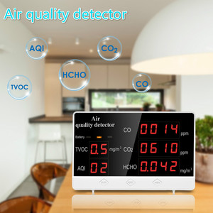 Digital Air Quality Detector Multifunctional CO Co2 HCHO TVOC Gas Detector High Accuracy Monitor Analyzer for Home Car Factory