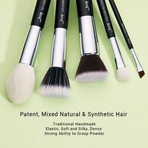 Image 2 - Набор кистей для макияжа черного/серебряного цвета
