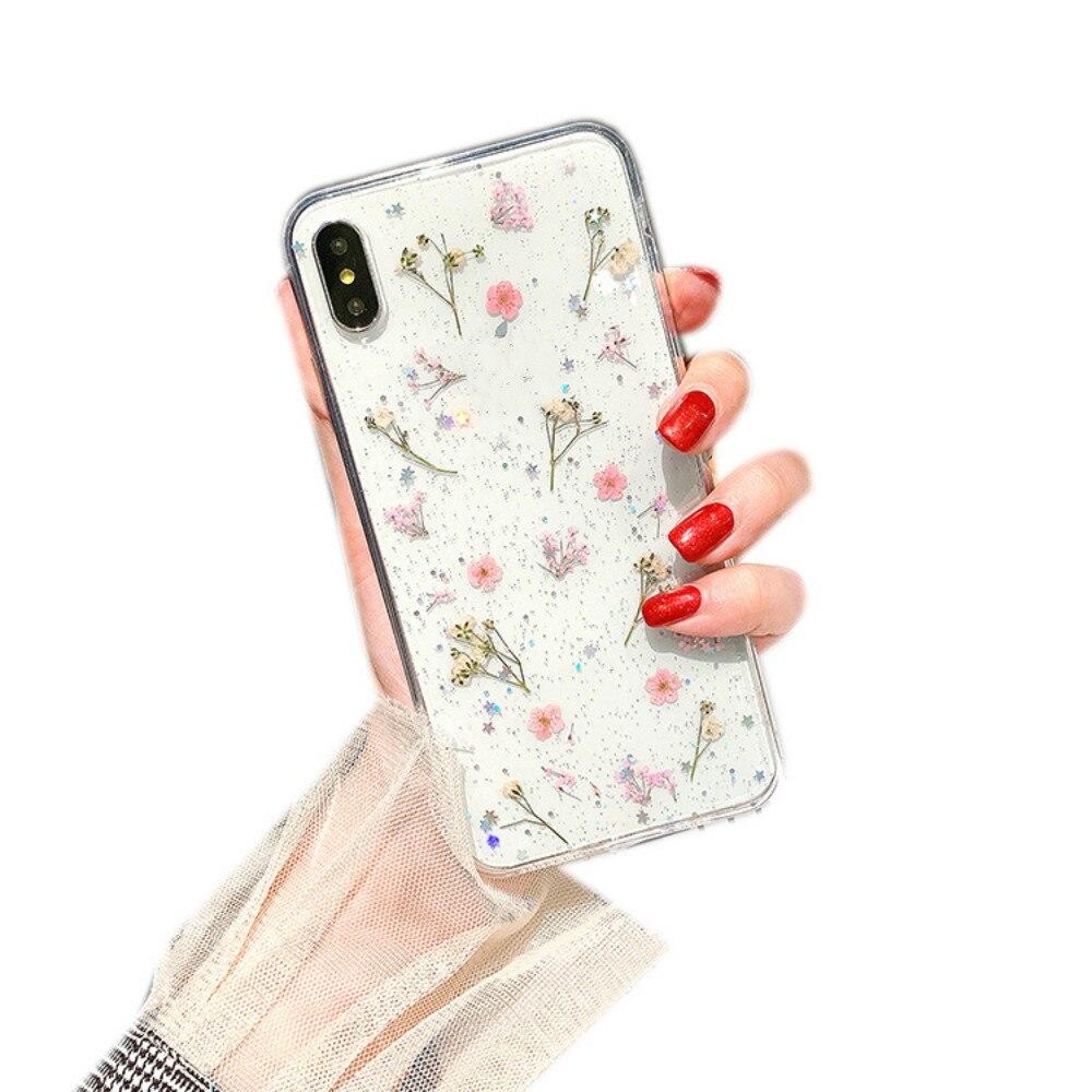 Iphone xs最大ケース小花電話ケース小新鮮なtpu耐衝撃ソフト6/7/8/x/xr/11/11pro/11promax