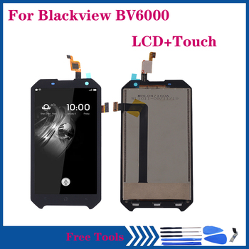 Original LCD For Blackview BV6000 LCD +Touch Screen Glass Component Digitizer assembly for Blackview BV 6000 Display Repair Kit for myphone hammer energy lcd display touch screen original lcd glass digitizer assembly repair parts
