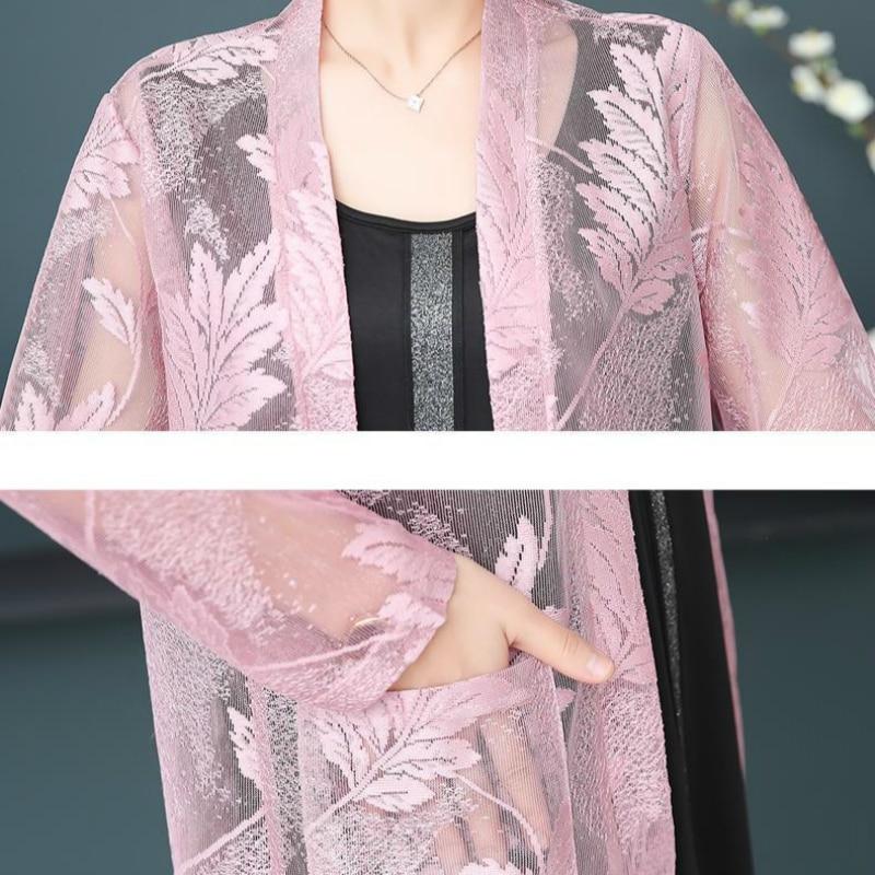 Fashion Lace Long Kimono Cardigan 20120 Summer Women Sunscreen Clothes Casual Thin Beach Blouse Loose Shirts Tops Femme