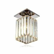 Nordic K9 Crystal Pendant Ceiling Light Luxury Balcony Porch Aisle Single Head Lamp LED Dining Room Living Lighting