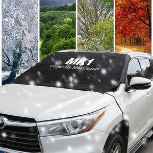 Image 4 - Parabrisas de coche hielo de nieve polvo bloque impermeable parasol Protector para Ford Focus MK1 MK2 MK3 MK4 2 3 1 4 accesorios de Auto