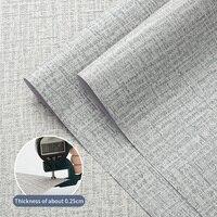 Carta da parati autoadesiva modello di lino impermeabile soggiorno camera da letto modello di lino carta da parati PVC decorazione della casa adesivo da parete