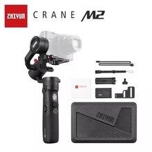 ZHIYUN Crane M2  הרשמי מנוף  3 ציר Gimbals כף יד מייצב עבור ראי קומפקטי פעולה מצלמות טלפון טלפונים חכמים iPhone 11