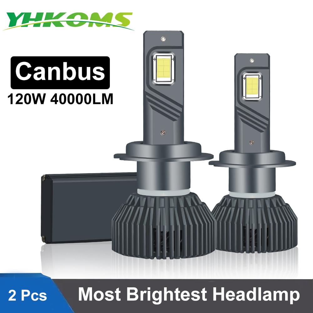 YHKOMS 120W 40000LM Canbus H4 H7 светодиодный фар автомобиля H1 H8 H9 H11 9005 HB3 9006 HB4 880 881 светодиодный лампы Авто противотуманных фар авто светодиодные фары