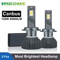 YHKOMS 120W 40000LM Canbus H4 H7 LED Car Headlight H1 H8 H9 H11 9005 HB3 9006 HB4 880 881 LED Bulb Auto Fog Lamp Auto Headlamp