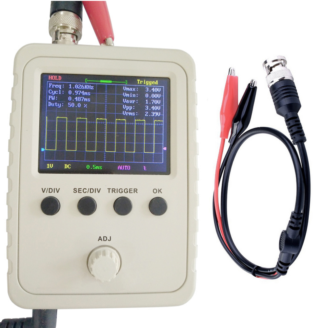 Fully Mounted Digital Oscilloscope with 1MSa/s Sampling Rate and 200KHz Bandwidth