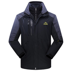 Men's Jacket 2020 North Winter Detachable Two-piece Women Hoodies Parkas Windproof Face Outdoor Sport Climbing Coats Plus Size
