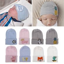 цена на Newborn Baby Infant Girl&Boy Comfy Hospital Cap Winter Warm Toddler Beanie Hat Baby Hat