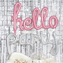 New party aluminum balloon conjoined English letter hello banquet children birthday wedding Baby Shower decoration