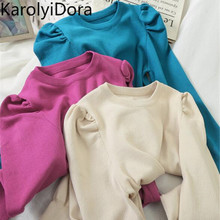 2020 Spring Autumn Basic Bottom Pullover Sweater Knit O Neck