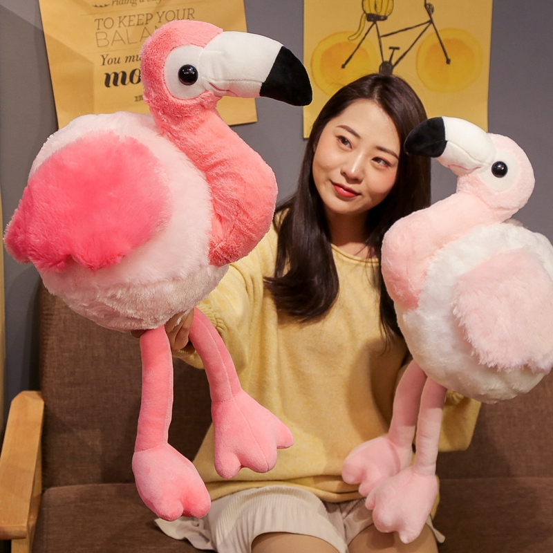 1pc 48/65cm Swan Plush Toys Cute Flamingo Doll Stuffed Soft Animal Doll High Quality Swan Baby Kids Appease Toy Gift For Girl