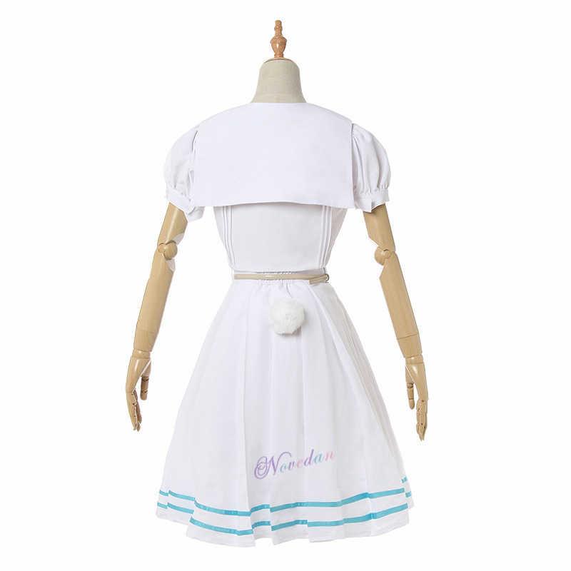Nuovo Anime Cosplay Beastars Haru Costume Lolita Dress Parrucca Orecchie Delle Donne Uniforme della Scuola Giapponese Coniglio Bianco Costume di Halloween