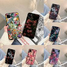 Vintage Silk Floral Phone Case For iphone 5s 6 7 8 11 12 plus xsmax xr pro mini se Cover Fundas Coque