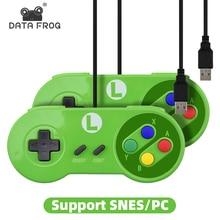 Controller USB RETROMAX Joystick di gioco Controller Gamepad per Nintendo SNES Gamepad/windows 7//MAC Joystick di controllo Computer