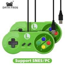 RETROMAX USB בקר משחקי ג ויסטיק Gamepad בקר עבור Nintendo SNES Gamepad/Windows7/8/10/MAC מחשב שליטת ג ויסטיק