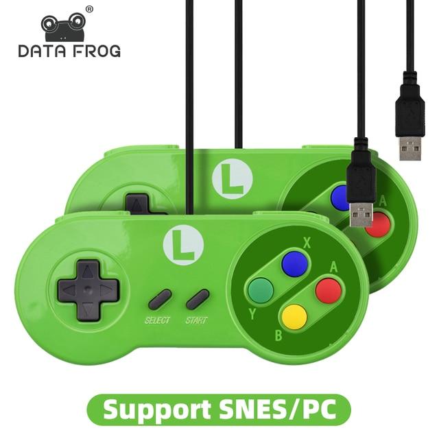 ريتروماكس وحدة تحكم USB الألعاب المقود غمبد تحكم ل نينتندو SNES غمبد/Windows7/8/10/ماك التحكم الكمبيوتر المقود
