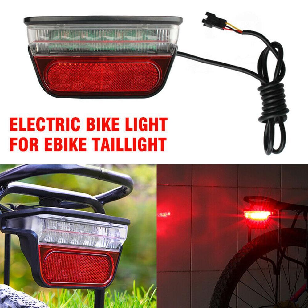 6-80V LED Electric-Bike Scooter Rear Tail Safety Light E-Bike Brake Lamp DIY