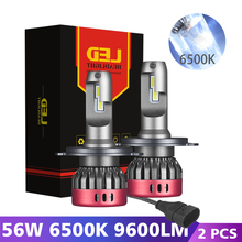 H7 LED H1 9005 HB3 9006 H4 LED Car Headlight Lampada 56W White 6500K 9600LM Auto Headlamp Fog Lights Bulbs 12V H8 H9 H11 Lamp cooleeon auto headlamp led light h1 h4 h7 car headlight bulbs h11 9005 9006 automotive led lamp kit 12v 24v 80w 9600lm cree leds