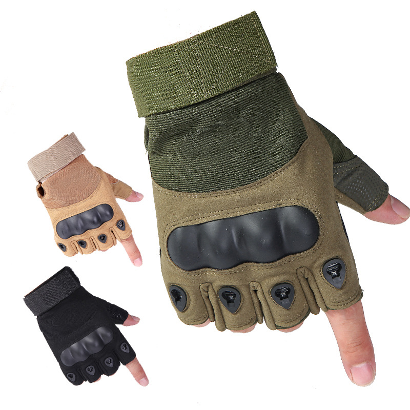 Fitness Antiskid Wear-resistant Outdoor Tactical Army Fans Riding Sports Climbing Breathable Half Finger Gloves
