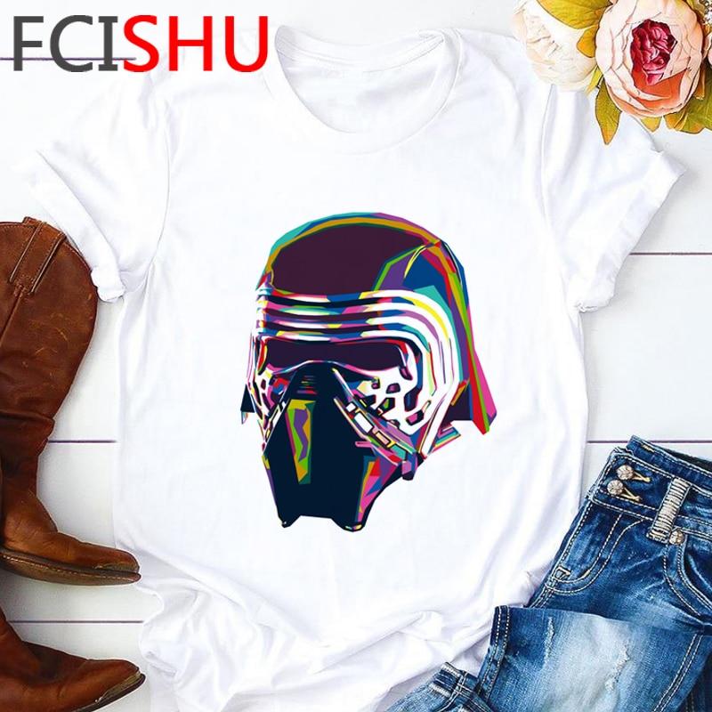 Star Wars The Rise of Skywalker T Shirt Men Cool Funny Cartoon Aesthetic T-shirt Kylo Ren Graphic Tshirt Hip Hop Top Tees Male