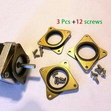 цена на 3pcs Steel & Rubber Dampers+Screws for Nema17 Stepper Motor for 3D Printer Part Accessories Supplies