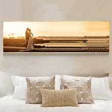 Yuke Art Posters and Prints Wall Canvas Painting Sunset Beach Romantic Love Pictures For Living Room Home Decor