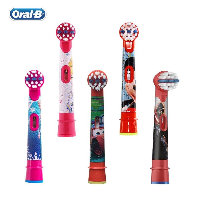 Сменные насадки для зубной щетки Oral B, детские головки из мягкой щетины, круглая электрическая зубная щетка , уход за полостью рта, 4 шт./упак .