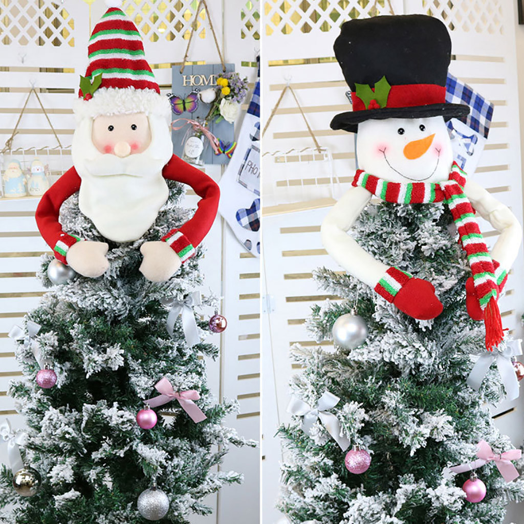 US $2 4 OFF Christmas Tree Topper Cute Top Hat Winter Party Tree Decorations Old Man Snowman Elk Ornament Christmas Decorations Pendant & Drop