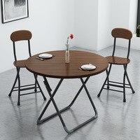 Składany stół stoisko prosty domowy mały rodzinny okrągły stół przenośny kwadratowy zakontraktowany mały okrągły stół na kolację w Stoły do jadalni od Meble na