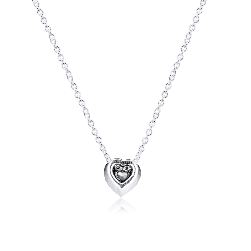 Image 2 - CKK Dangling Sparkling Heart Necklace Choker Pendant Colgantes Chakra Collares Pingente 925 Sterling Silver Women JewelryChain Necklaces   -