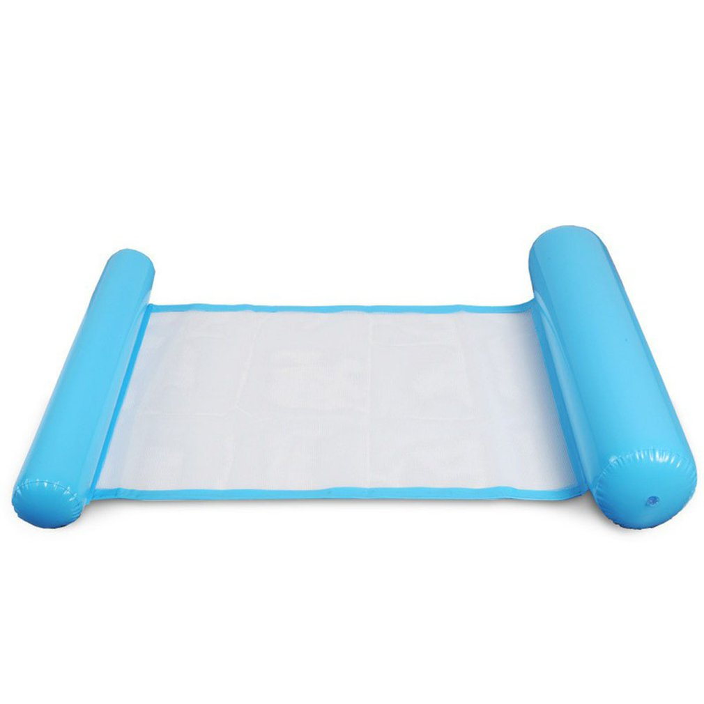 Kids Floating Bed Foldable Dual-use Backrest Floating Row For Swimming Air Mattresses Hammock With Net For Swimming Pool