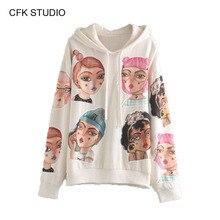Women hoodies autumn sweatershirt 2019 new fashion girsl cartoon print long sleeve pullover femme casual cute Jumper Hoodies