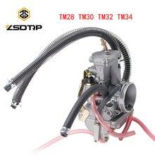 ZSDTRP ชุดคาร์บูเรเตอร์สำหรับ Mikuni TM28 TM30 TM32 TM34 ATV รถจักรยานยนต์ Yamaha DT200S TMX30 แบนสไลด์คาร์บูเรเตอร์