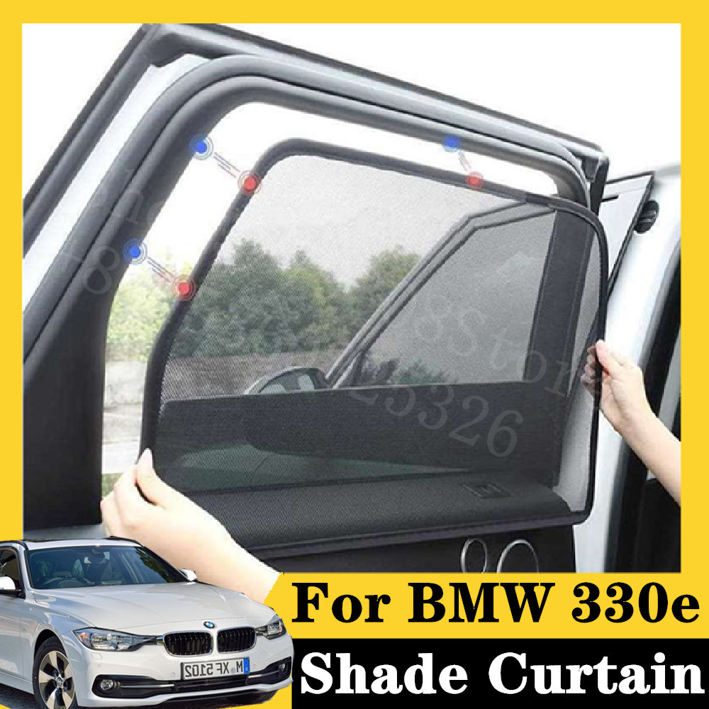 For BMW 2005-2012 330e plug-in hybrid E90 7Pcs card type magnetic car curtain sun shade car window shade car styling image