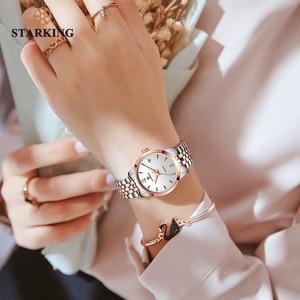 Image 5 - STARKING Watch Women Automatic Self wind Analog Ladies Waterproof Stainless Steel Wristwatch 5atm Female Relogio Feminino AL0194