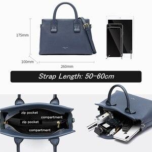 Image 3 - BISONJS роскошные сумки из натуральной кожи, женские сумки, дизайнерская женская сумка тоут, повседневная сумка с верхней ручкой, женская сумка на плечо B1870