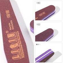 1pcs / lot sided nail files buffer speciality 100/bun mower lime art tools washable polishing sanding file sponge