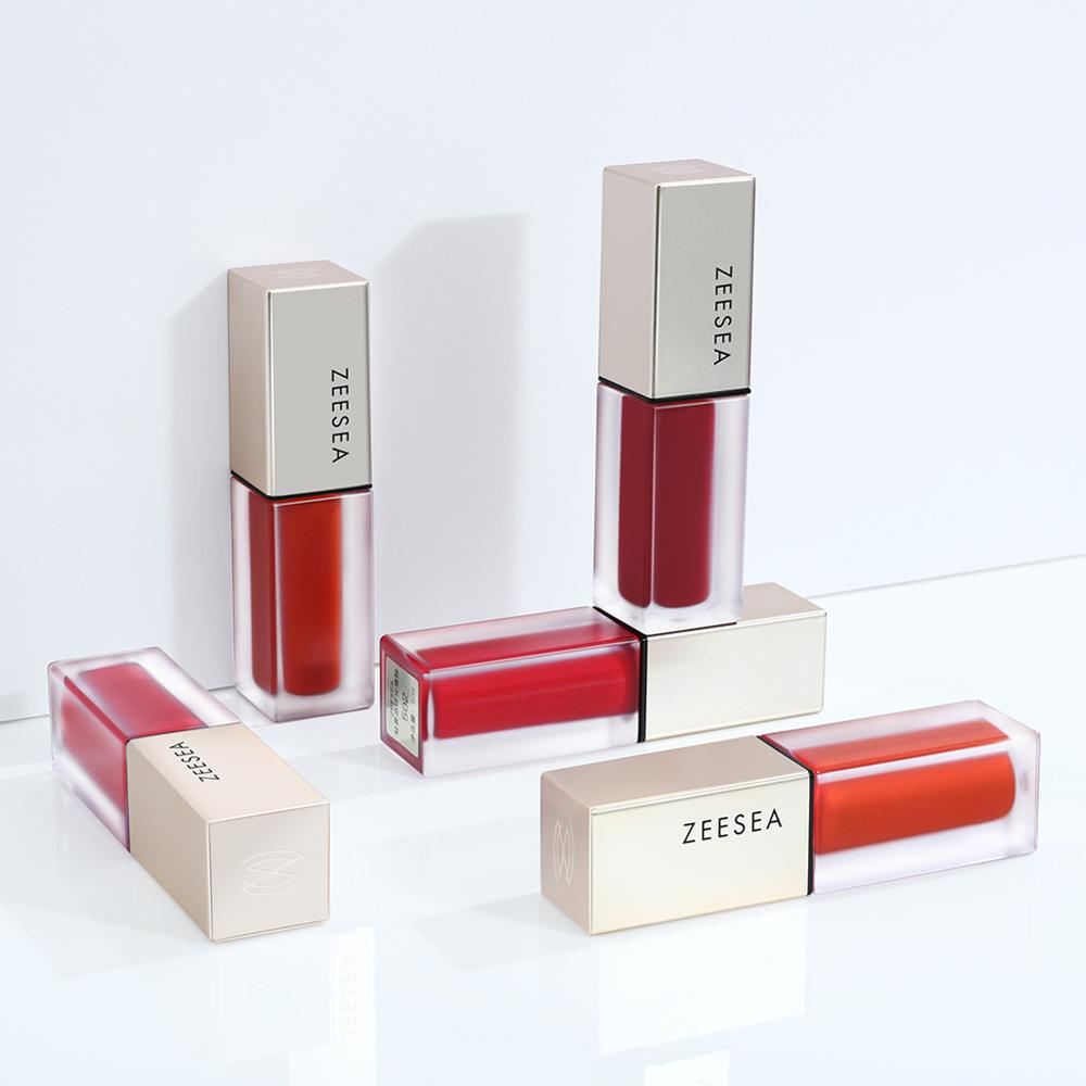 ZEESEA 14 Colors Matt Moisturized Lip Gloss Pigmented Easy To Wear Makeup Maquiagem Lipgloss Long Lasting Cosmestic