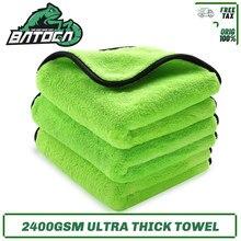 Batoca 3 pc/lote toalha de microfibra da lavagem de carro 40*40cm ultra grosso 1200gsm pano de secagem da limpeza do carro detalhando toalha da lavagem de carro para o carro